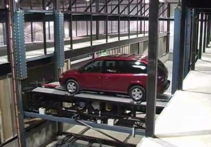 lift at robotic parking structure