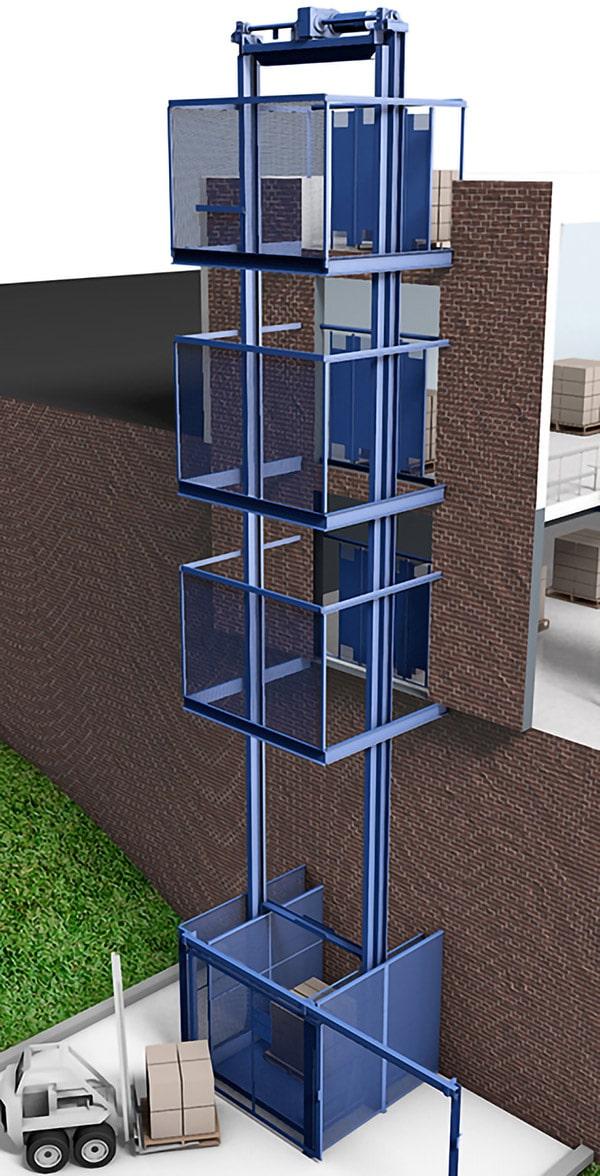 rendering of a PFlow M Series vertical lift