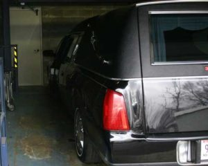 vehicle lift for funeral cars