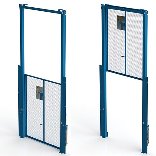 Vertical Acting gates for material lifts